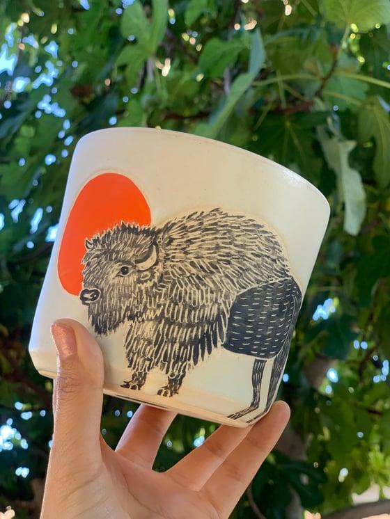 Image of Moonrise Bison
