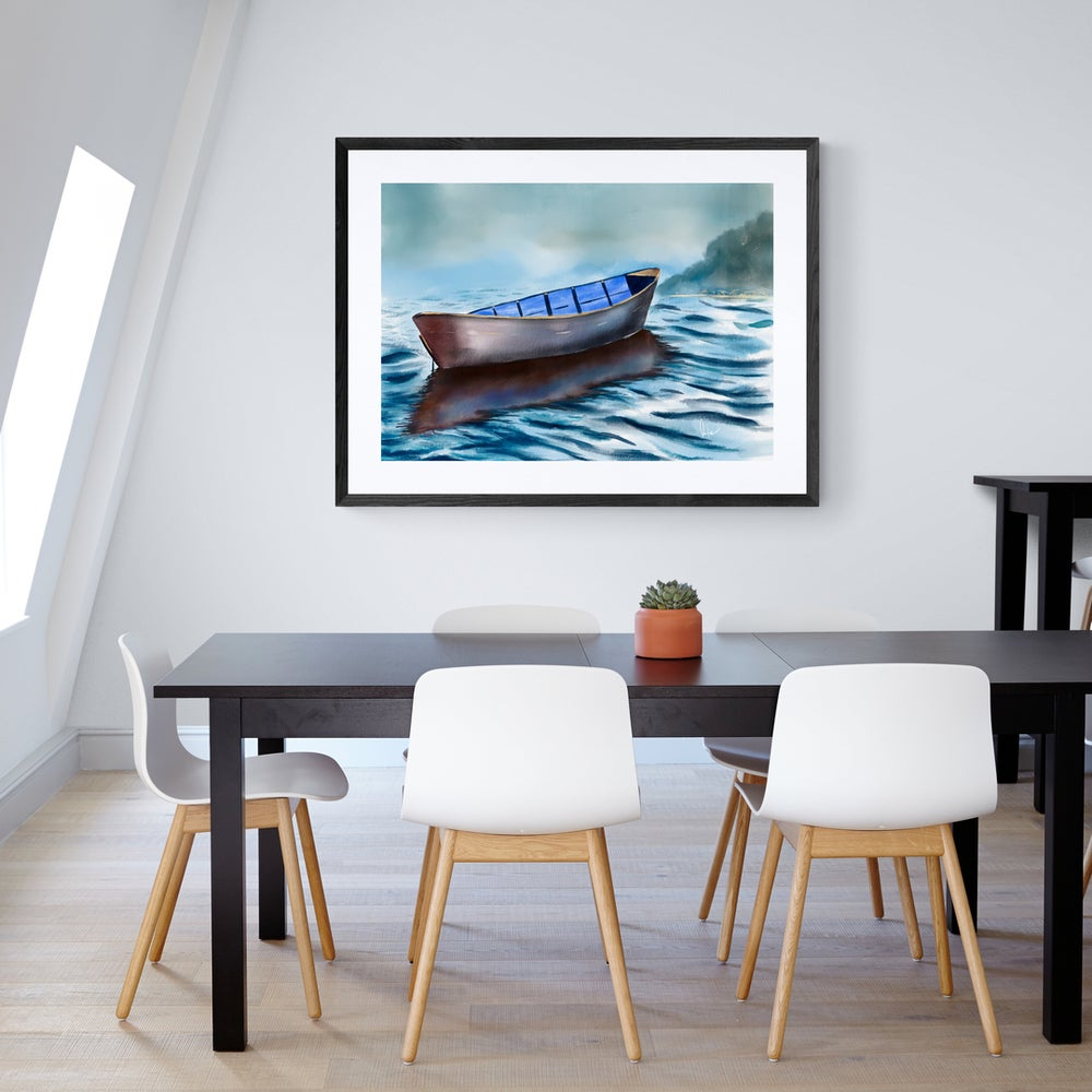 Reflections of a Boat  - Artwork  - Prints