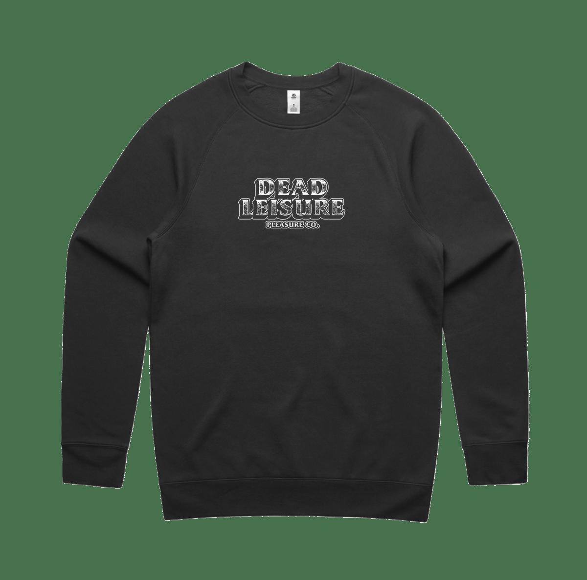 Block Logo Crew Sweatshirt - Coal