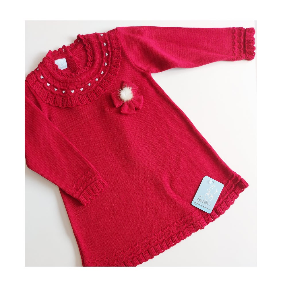 Image of Granlei Red dress with pom