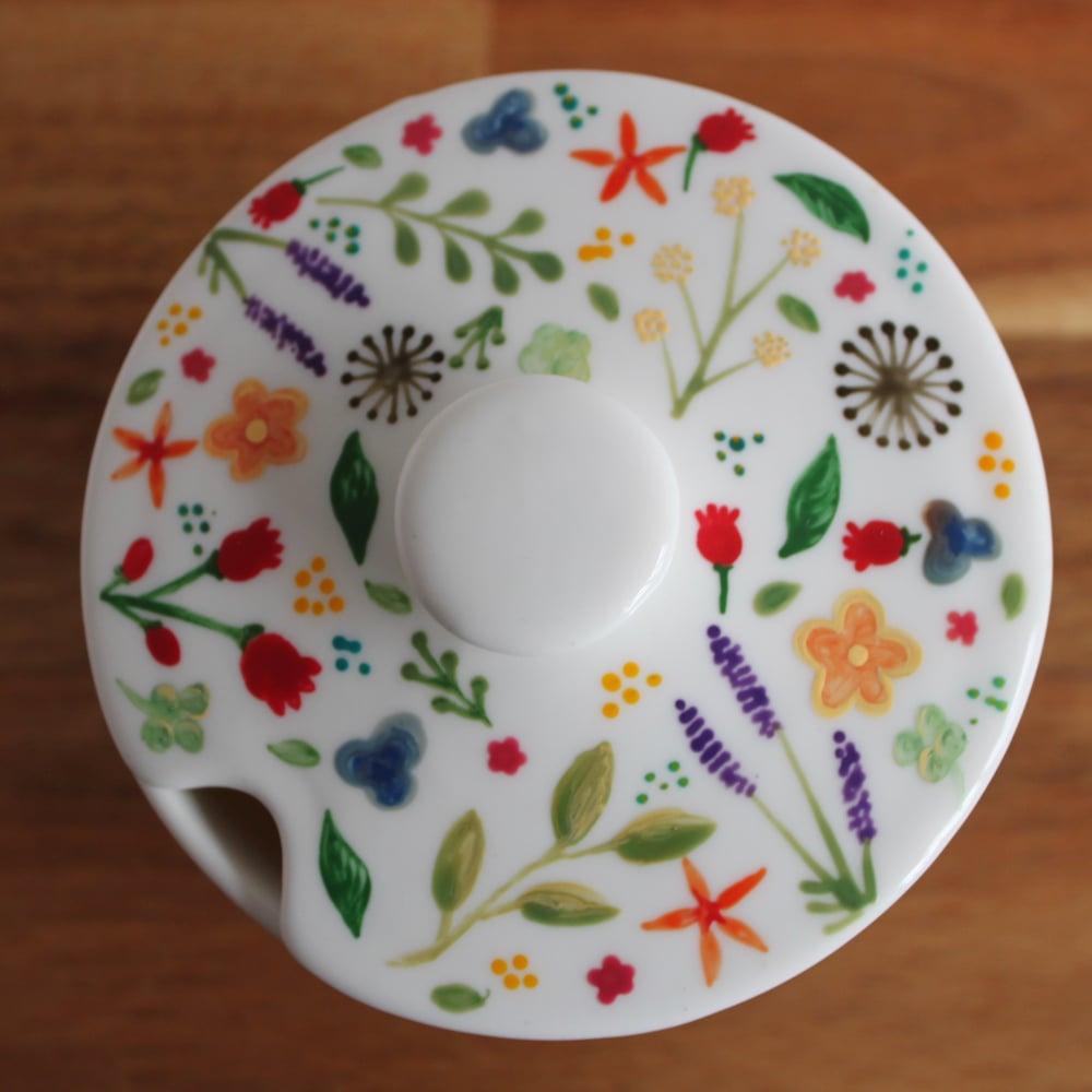 Floral Sugar Pot