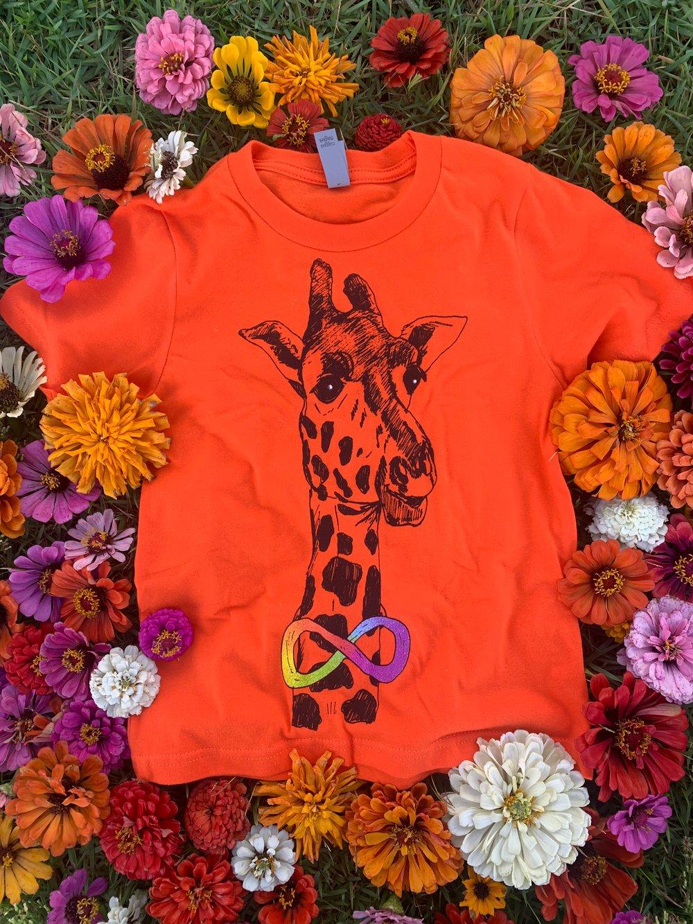 Image of Youth Giraffe Short Sleeve Tee