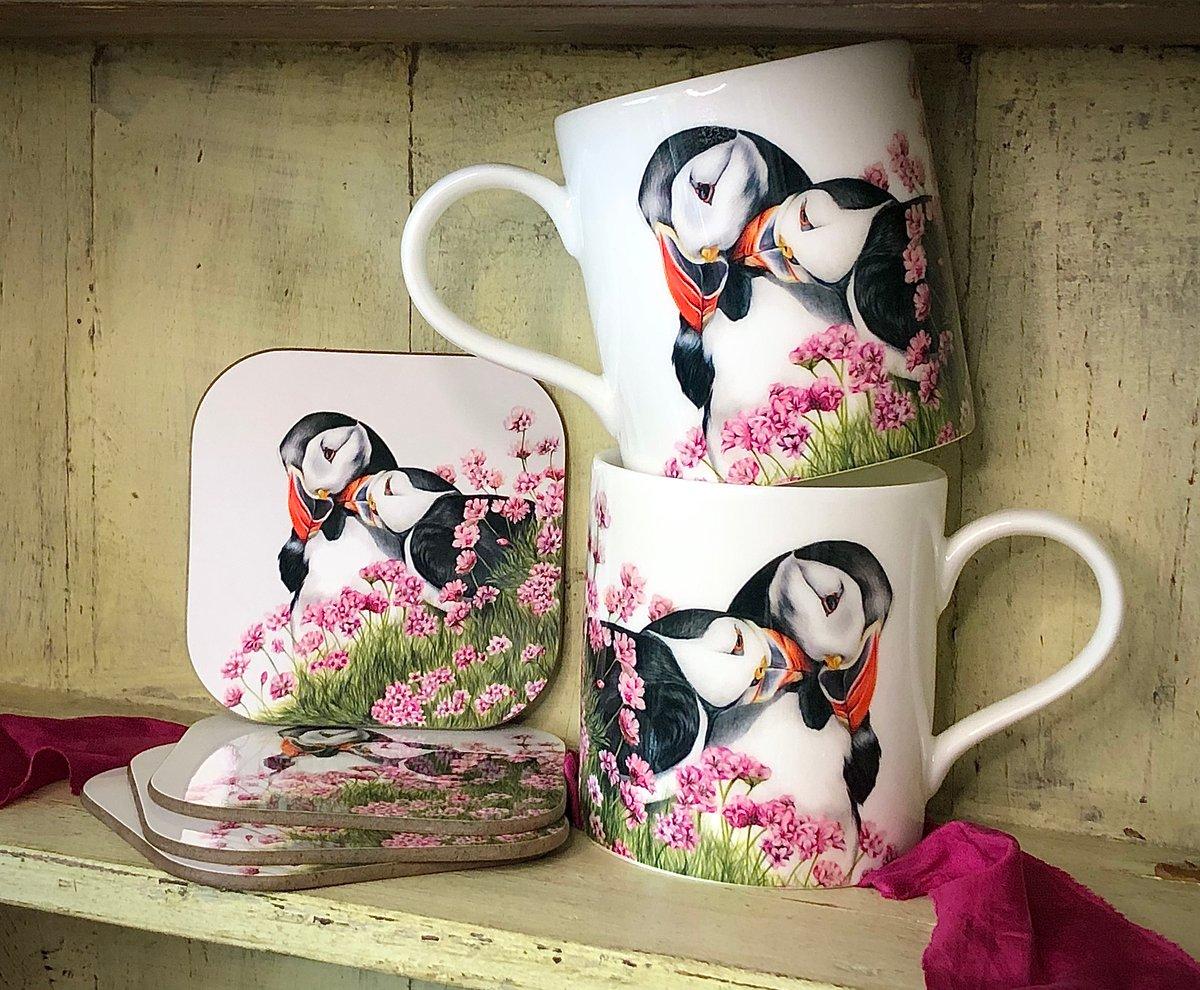 Image of 'Puffin Love' Mug