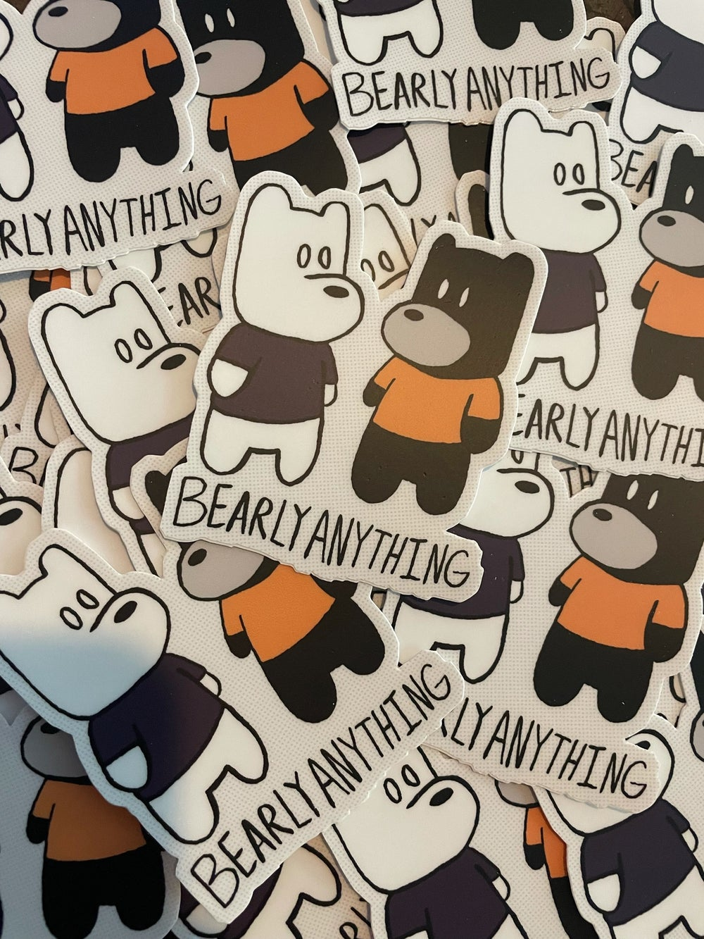 Bearly Anything Color Stickers