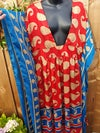 FLORENCE DRESS RED AND BLUE