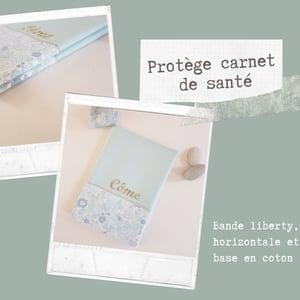 Image of Sur Commande Protège carnet de Santé bande Verticale ou horizontale