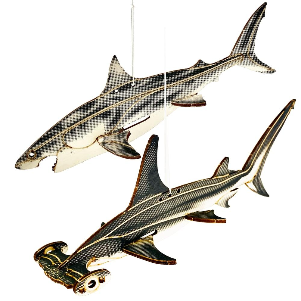 Image of JCR SHARKS : GREAT WHITE + GREAT HAMMERHEAD FAM-PACK