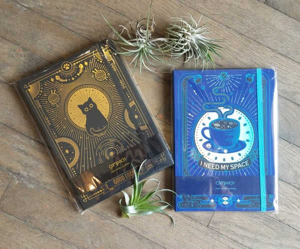 Image of Hardcover Lined Journals with Metallic Inlay