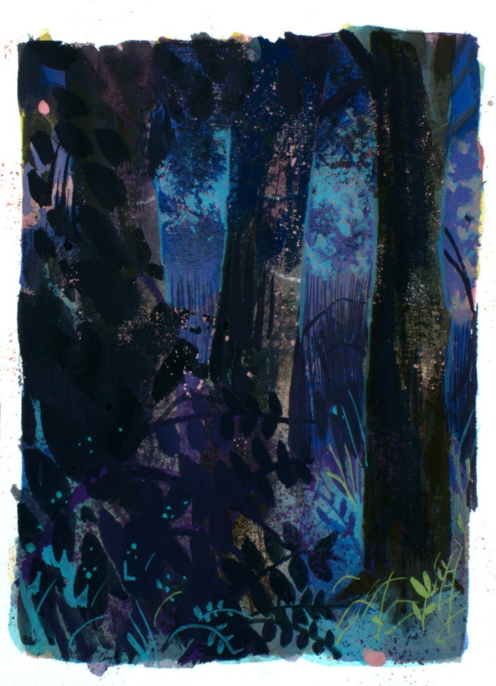 Image of Painting: Forest Texture