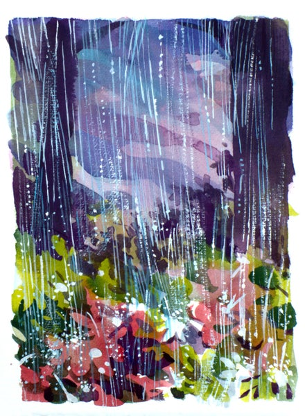 Image of Painting: Colorful Downpour