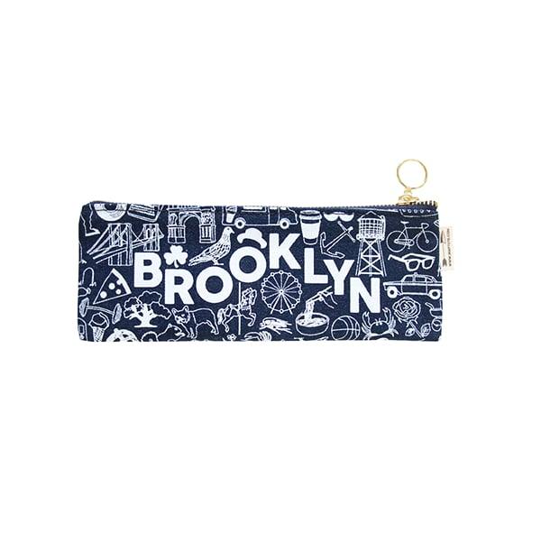 Image of Brooklyn Pencil Pouch Denim