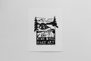 "Image of ""Ride Bikes, Make Art"" 8x10"" Print"