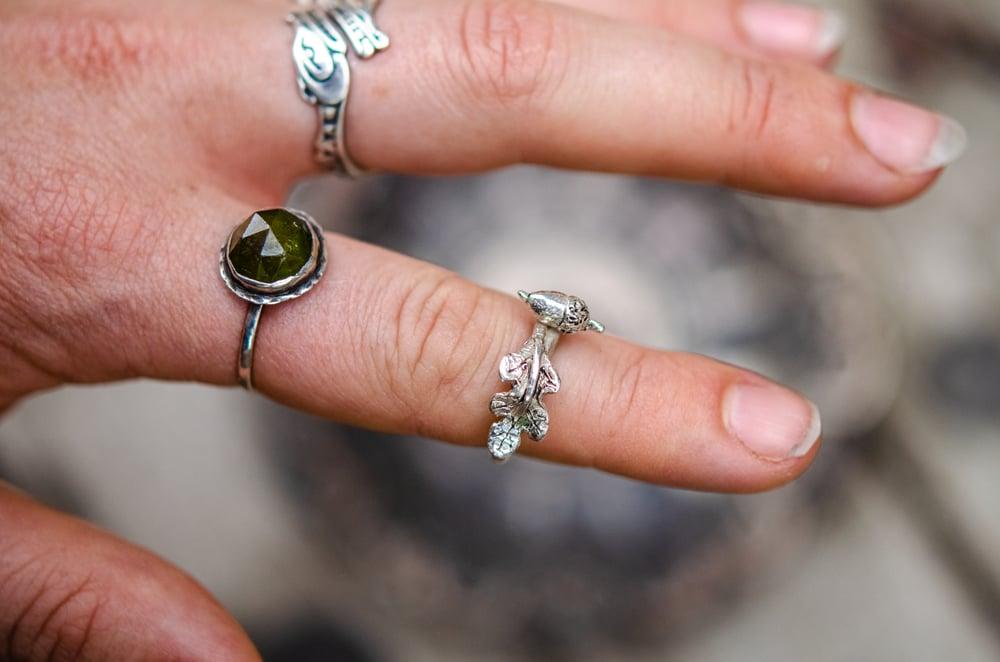 Image of acorn and oak leaf ring