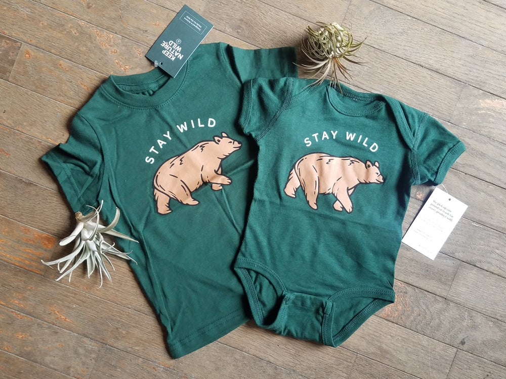 Image of Stay Wild Bear Onesie and Toddler Tee