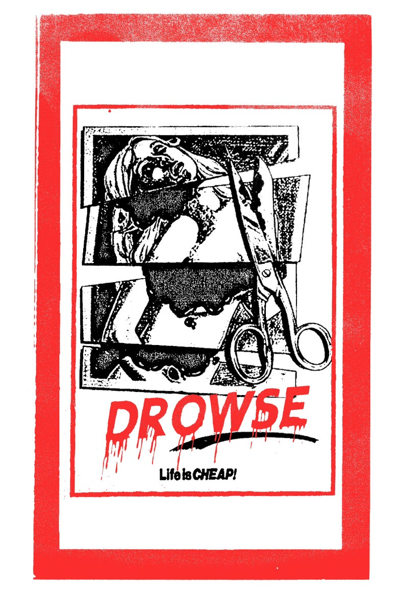 """Image of PRE-ORDER SEC32: DROWSE - """"Life Is Cheap"""" VHS"""