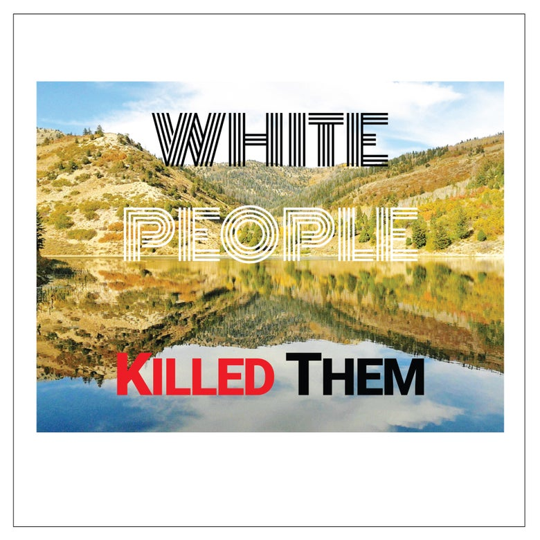 """Image of WHITE PEOPLE KILLED THEM """"s/t"""" LP"""