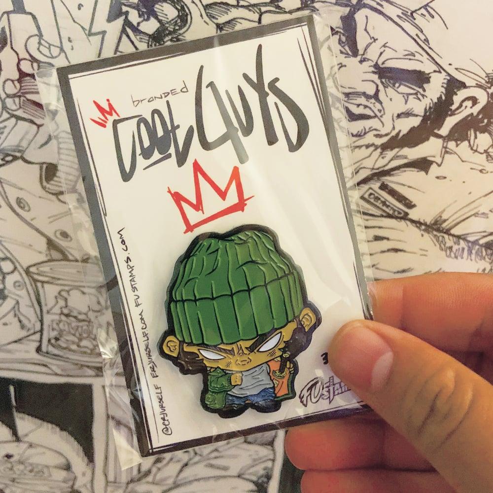 Image of LE Cool Guys: Bodega Blade enamel pin by Erjurself X FU-Stamps
