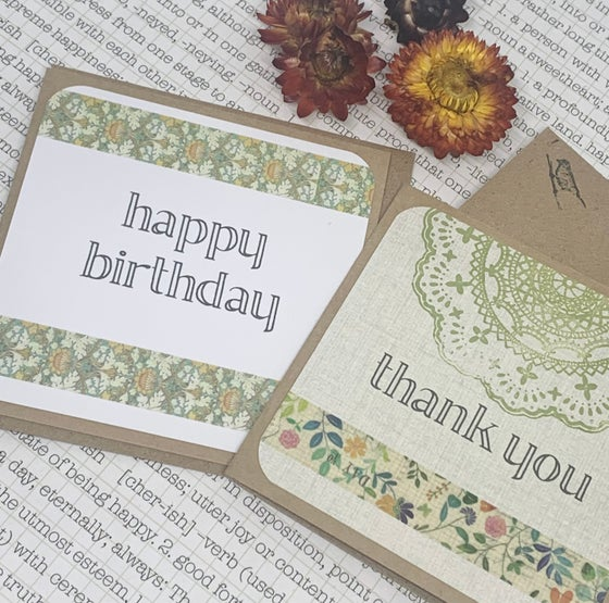 Image of happy birthday & thank you gift card