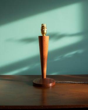 Wick - Small lamp base in Utile wood
