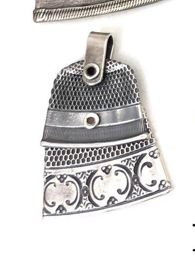 Image of Double sterling thimbles necklace