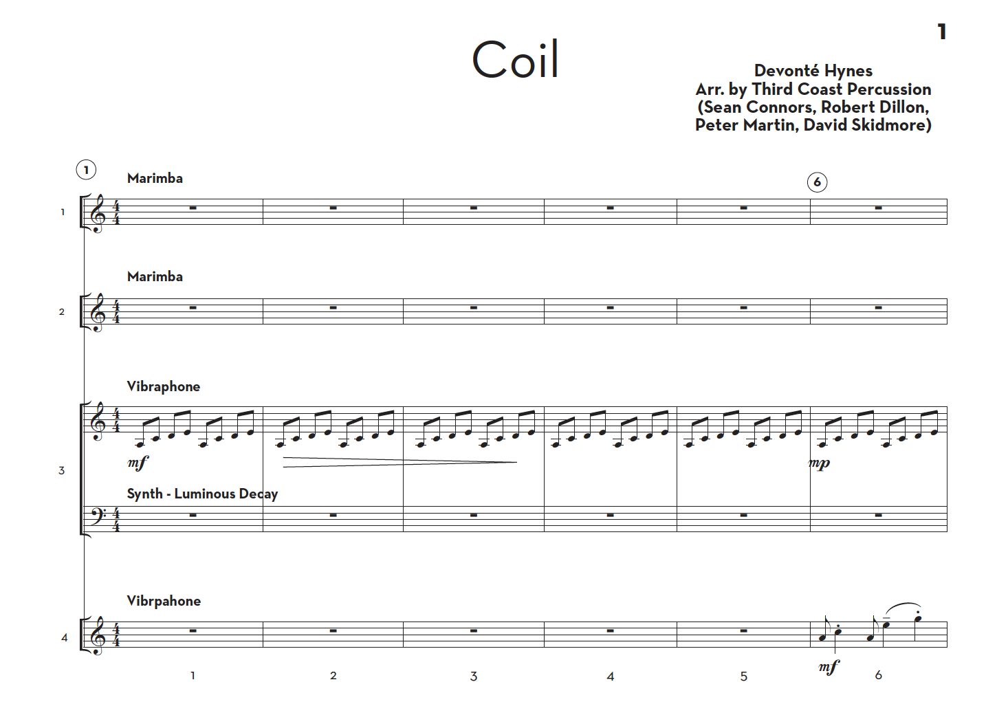 Image of Coil - Score and Parts