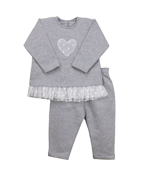 Image of Rapife Grey Tulle Tracksuit