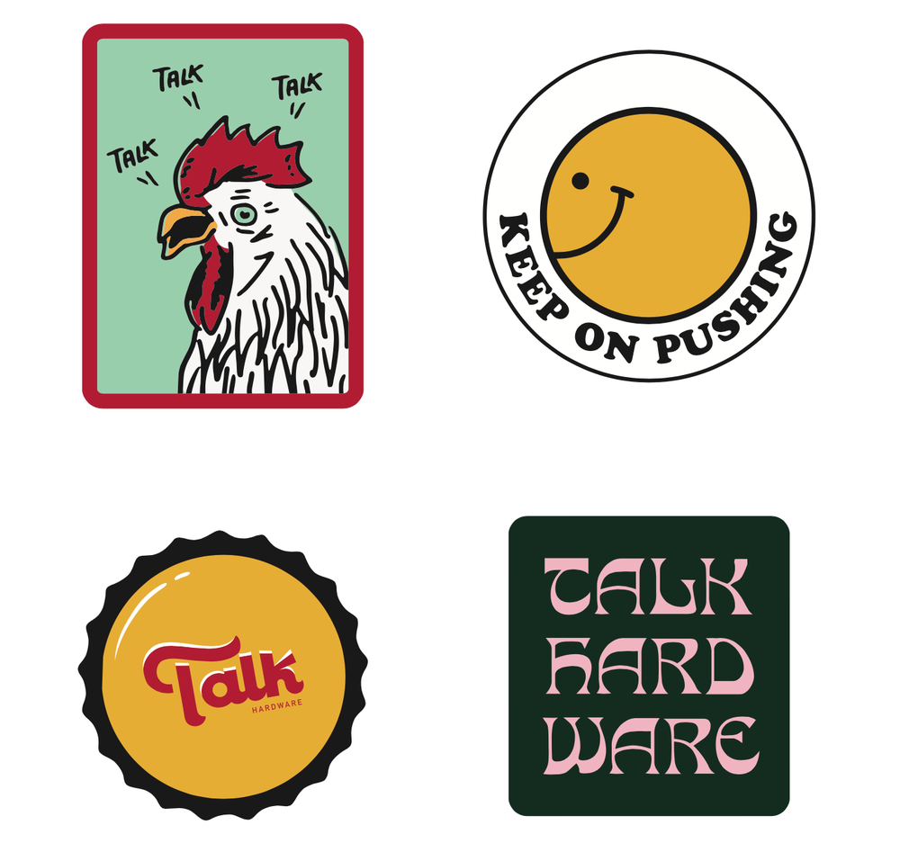 Image of Mixed Sticker 8 Pack