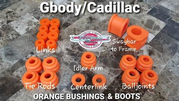Image of GBODY / CADILLAC ORANGE BUSHING & BOOTS