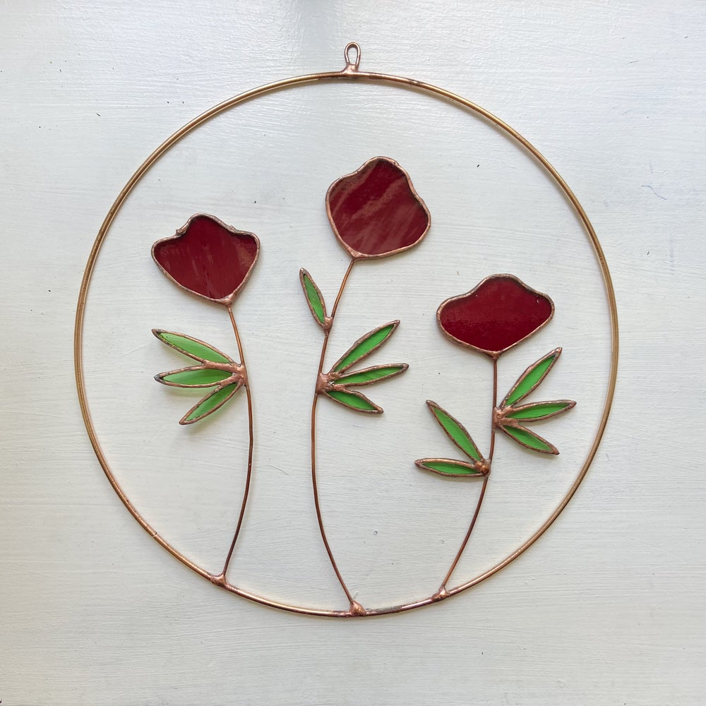 Image of Red Flowers Wreath
