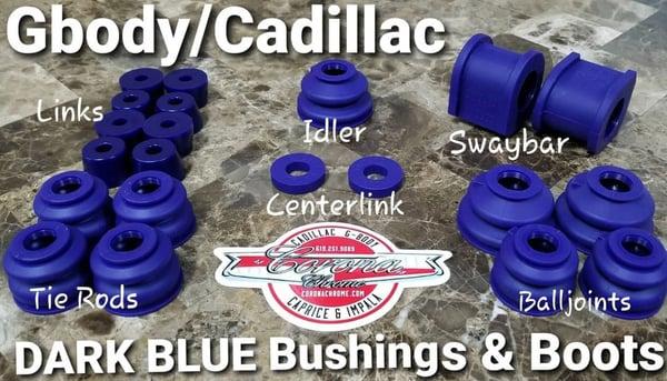 Image of GBODY / CADILLAC DARK BLUE BUSHING & BOOTS