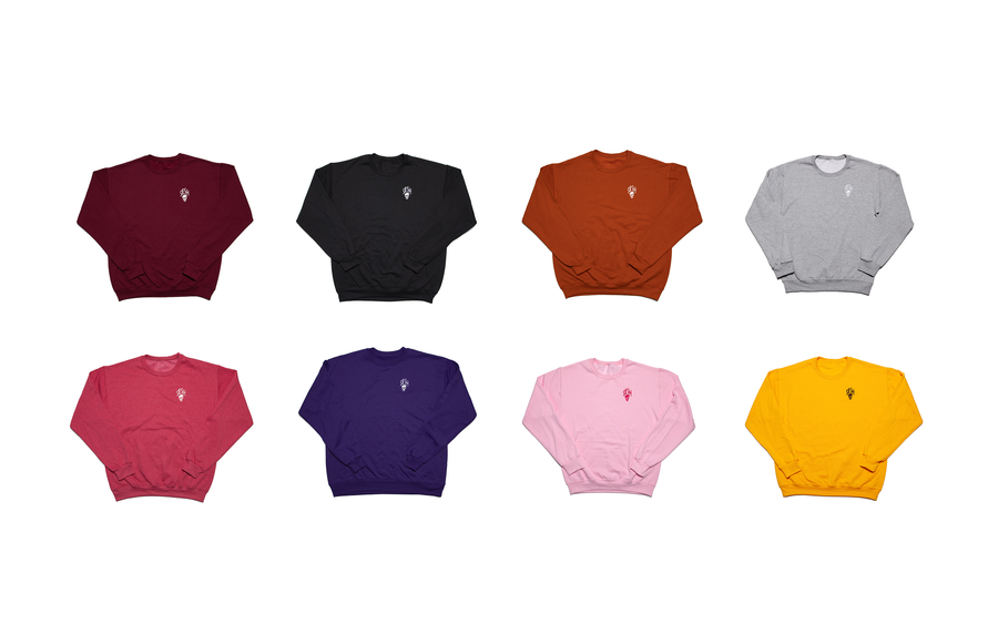 Image of Embroidered SESHSKULL Crew Neck Sweatshirt