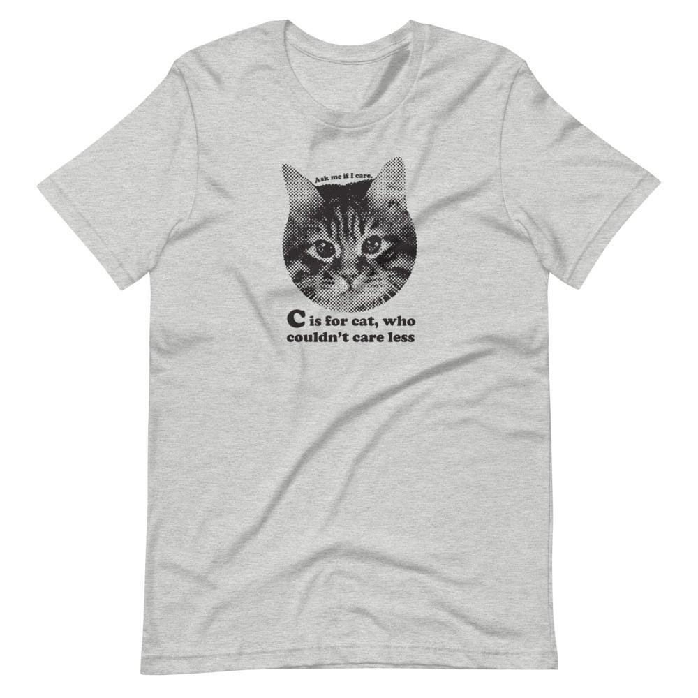 Image of  C is for Cat - unisex/men's tee