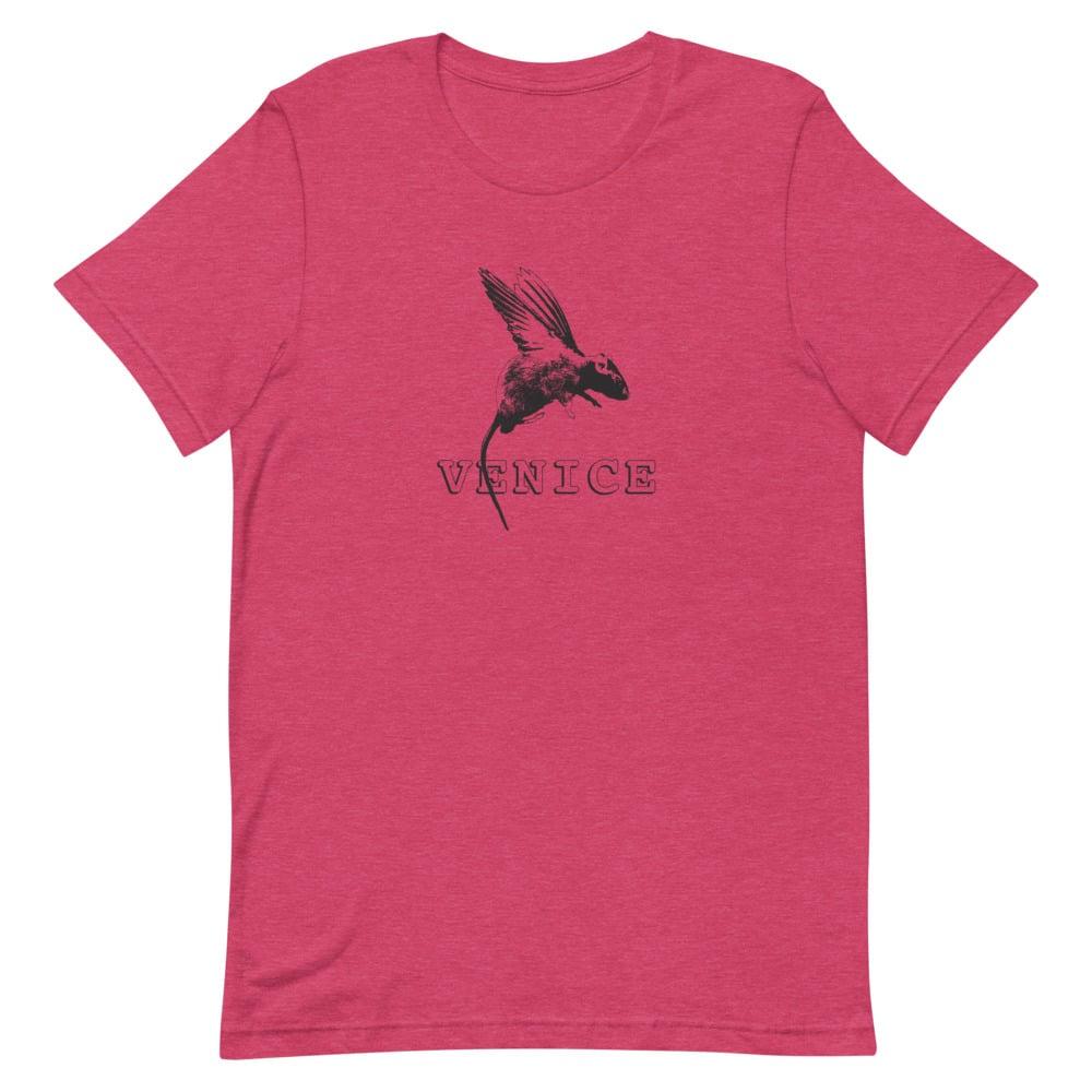 Image of Rat with Wings (aka pigeon) - Venice. unisex/men's tee