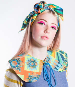 Image of City Bloom Blue Reversible Collar
