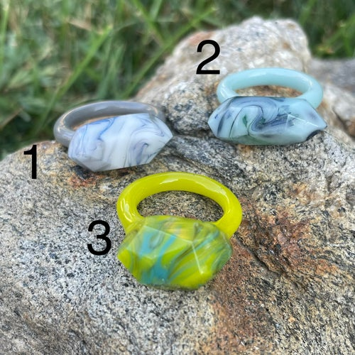 Image of Swirly Stone Rings