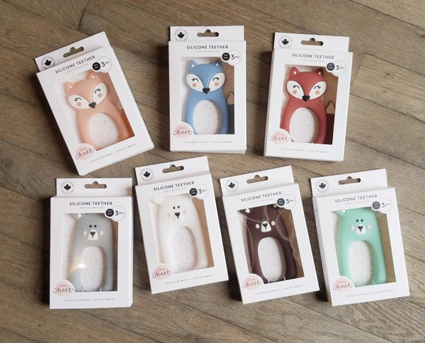 Image of Fox or Bear Silicone Teether