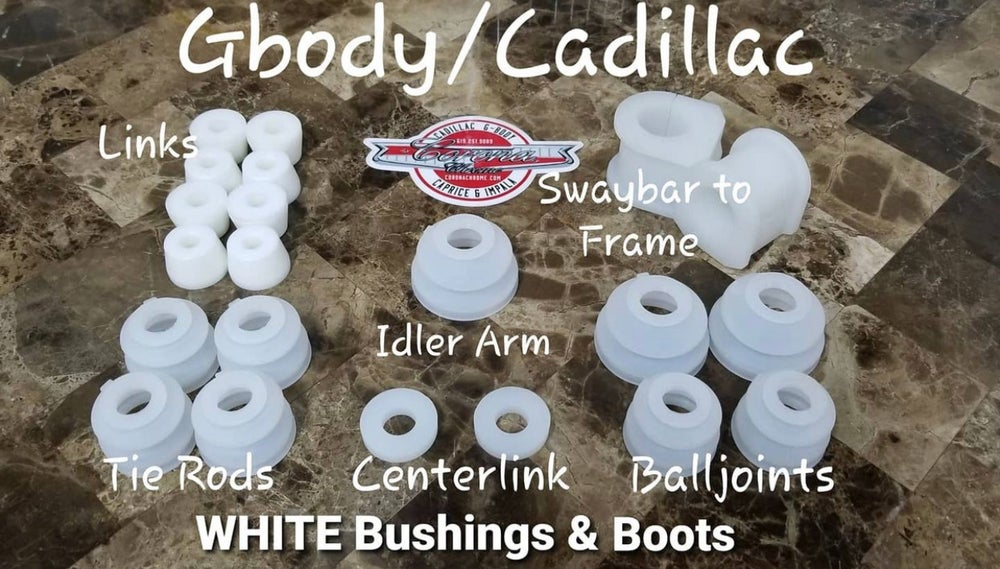 Image of GBODY / CADILLAC WHITE/CLEAR  BUSHING & BOOTS