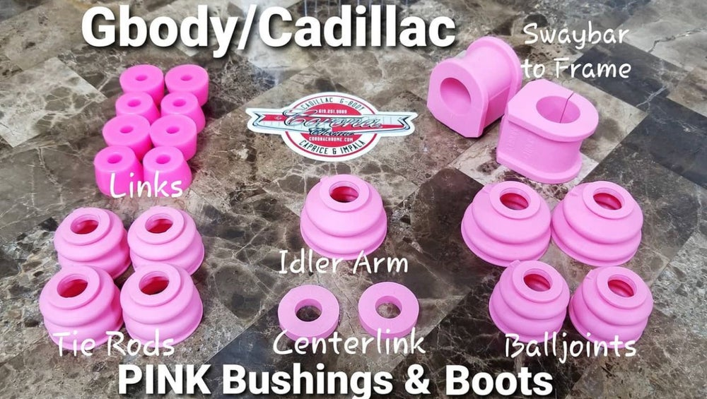 Image of GBODY / CADILLAC PINK BUSHING & BOOTS