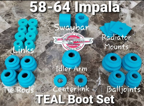 Image of 1958-1964 IMPALA  TEAL BUSHINGS & BOOTS