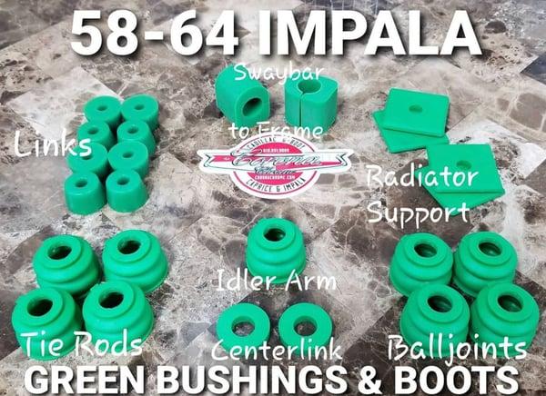 Image of 1958-1964 IMPALA GREEN BUSHINGS & BOOTS