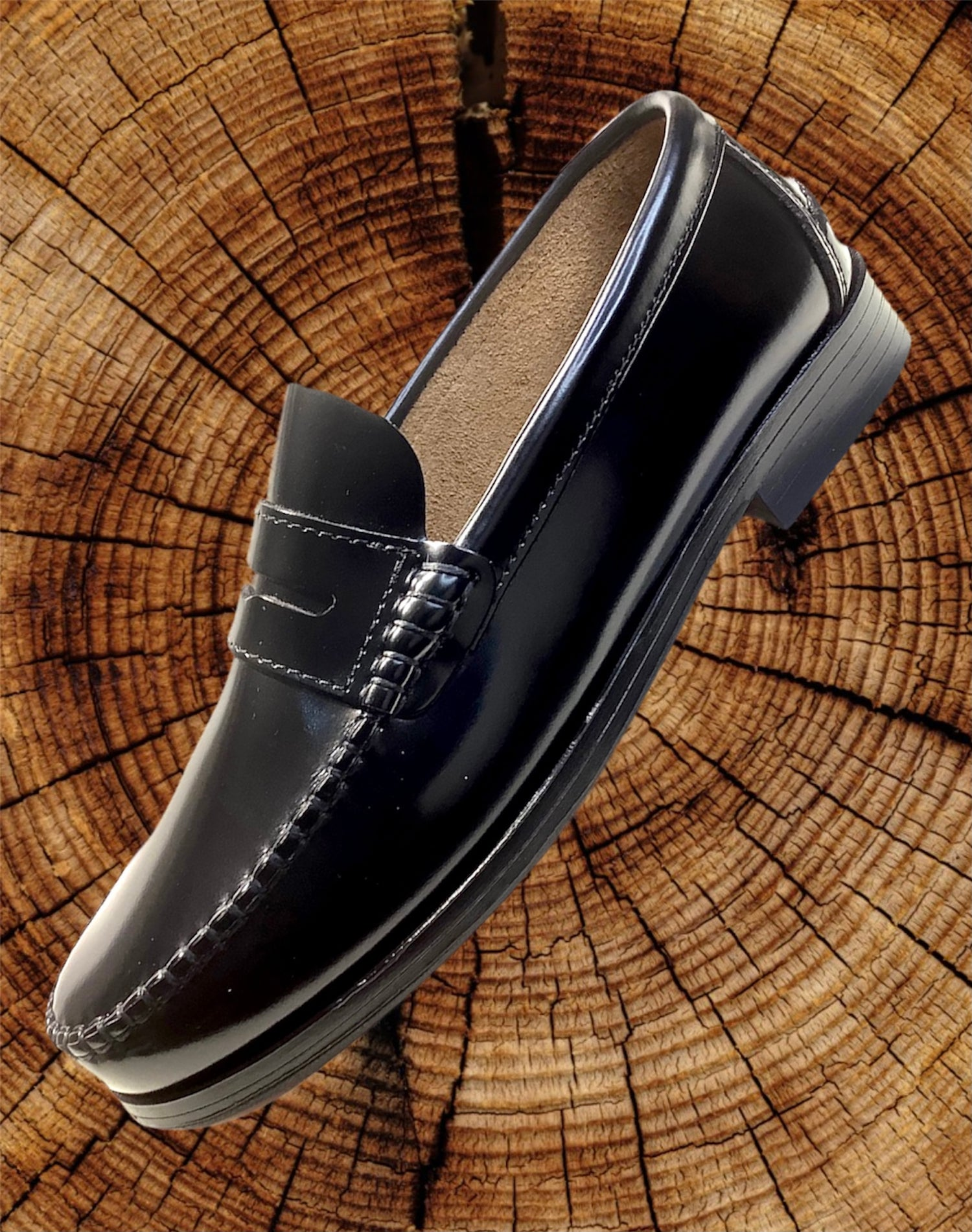 Image of Tortola penny loafer shoes made in Spain