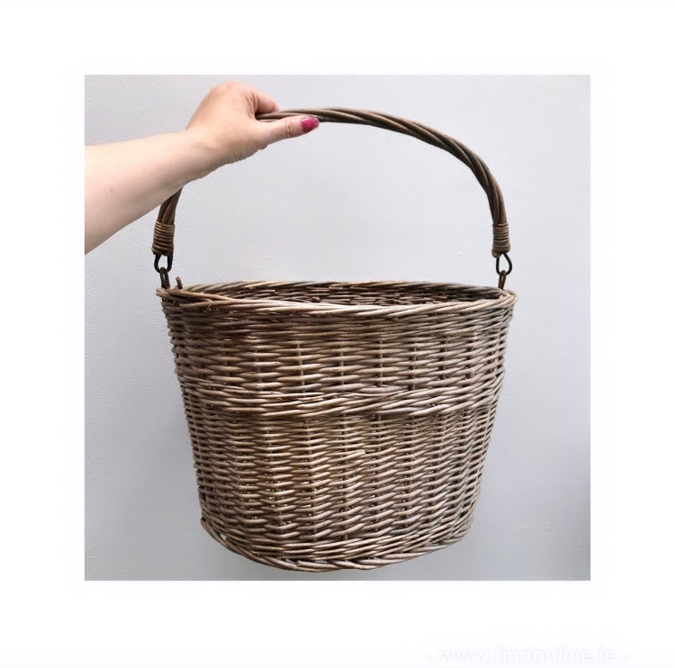Vintage cherry picking basket