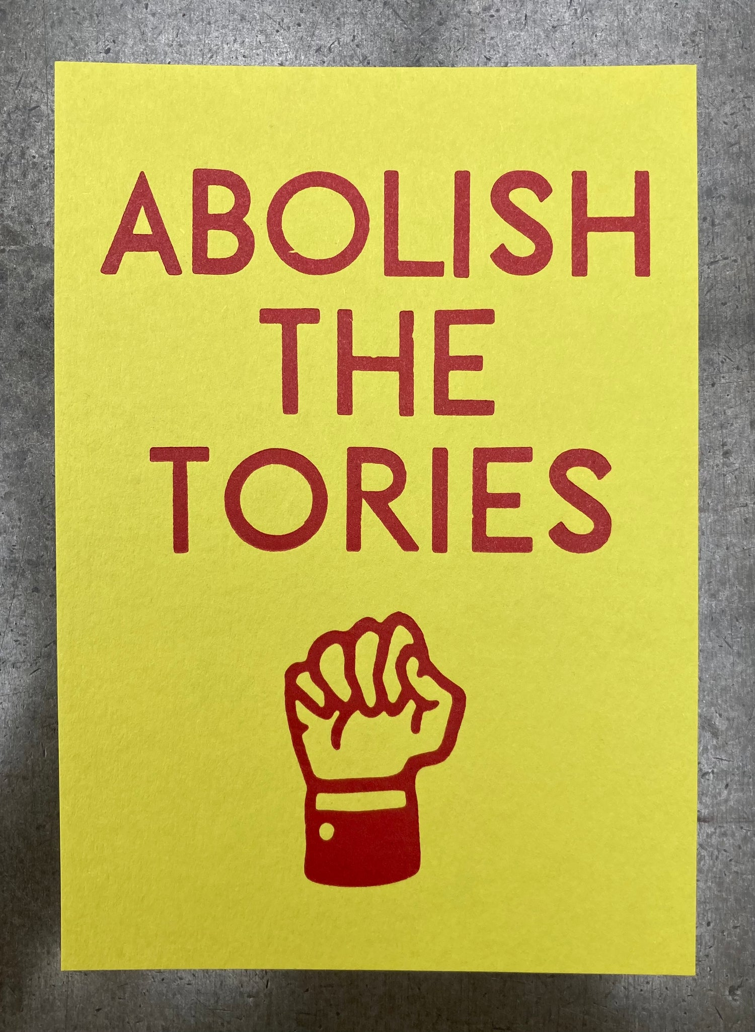 Image of Abolish the Tories – postcard