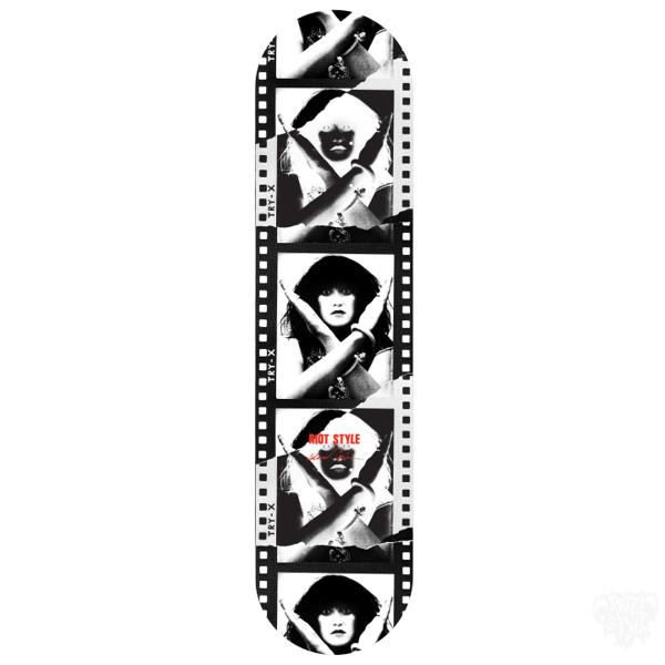 "Image of EDWARD COLVER - EXENE CERVENKA (X THE BAND) ""TRY-X"" SKATEBOARD DECK"