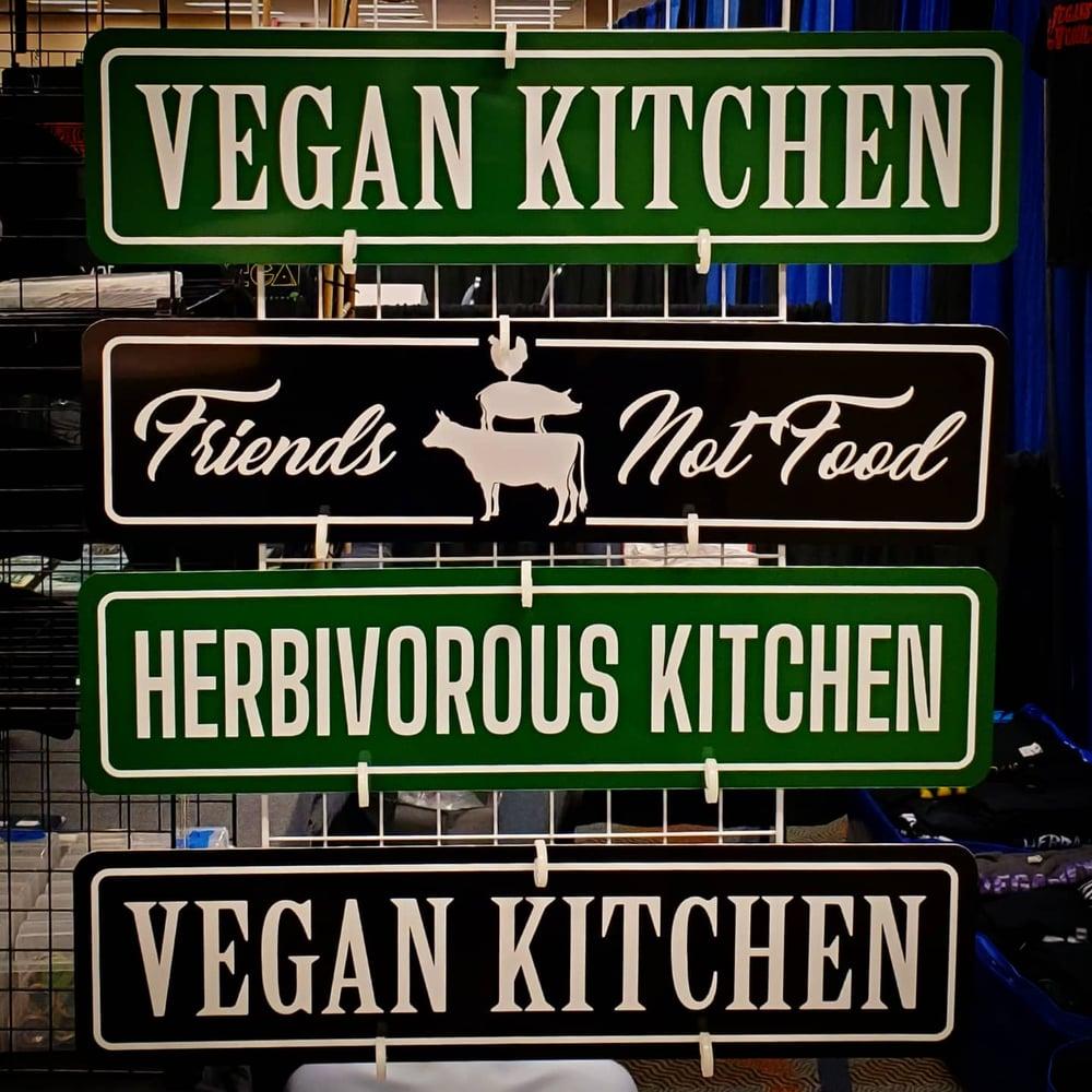Image of Vegan metal signs