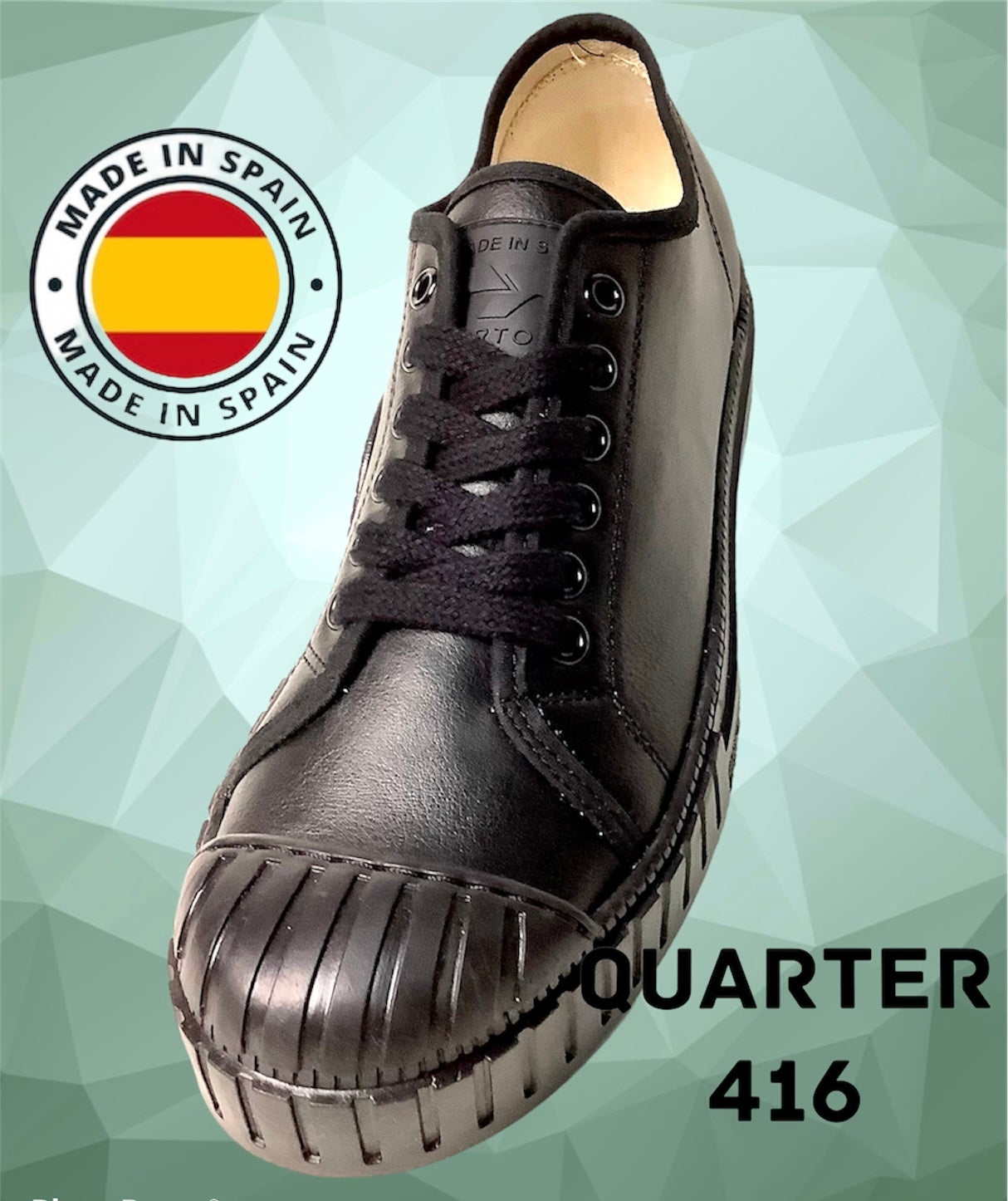 Image of Tortola model 10 leather sneaker shoes made in Spain