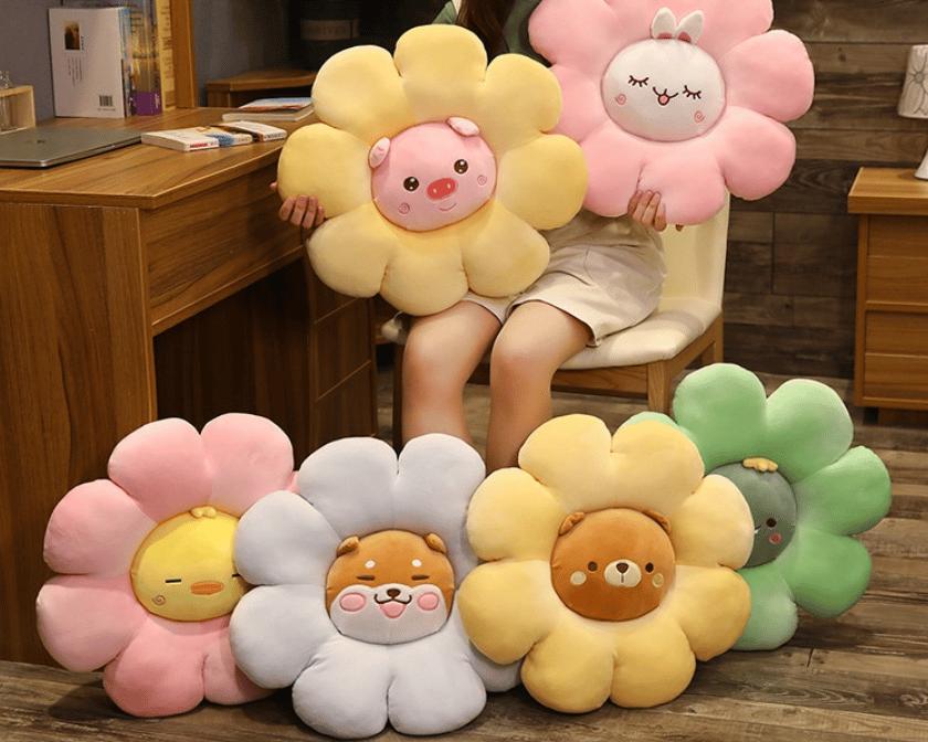 Image of Animal Flower Plush Pillow
