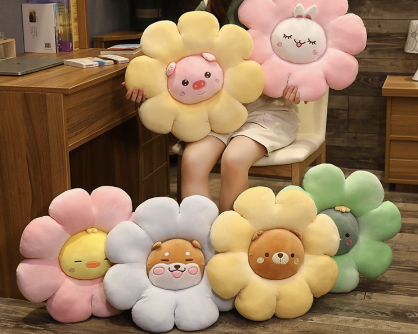 Animal Flower Plush Pillow
