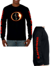 sons on fire mens long sleeve
