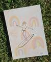 """""""Rainbow Mingle"""" Original Artwork Aquarell"""